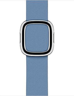 Apple modernes Lederarmband Large für Apple Watch 40mm Kornblume (MV6P2ZM/A)