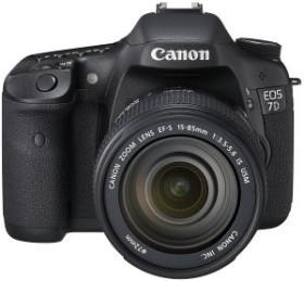 Canon EOS 7D schwarz mit Objektiv EF-S 15-85mm 3.5-5.6 IS USM und EF 70-300mm 4.0-5.6 IS USM (3814B153)