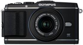 Olympus PEN E-P3 schwarz mit Objektiv M.Zuiko digital 14-42mm II (V204031BE000)
