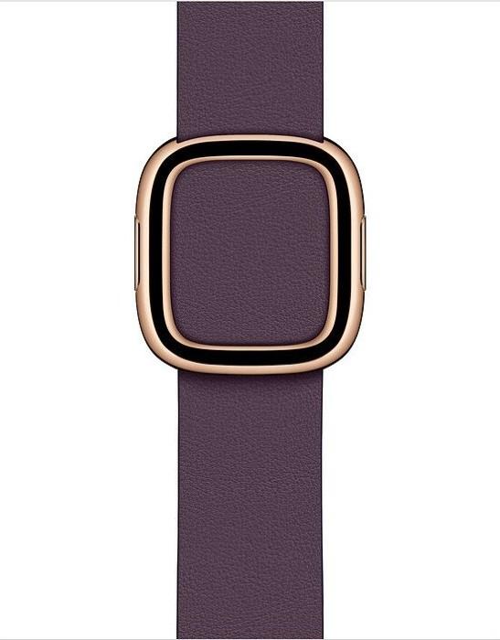 Apple modernes Lederarmband Large für Apple Watch 40mm aubergine (MWRL2ZM/A)