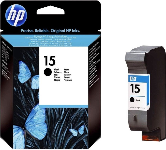 HP Printhead with ink Nr 15 black 14ml (C6615NE)