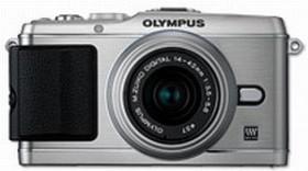 Olympus PEN E-P3 silber mit Objektiv M.Zuiko digital 14-42mm II (V204031SE000)