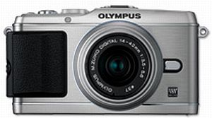 Olympus PEN E-P3 (EVIL) silver with lens M.Zuiko digital 14-42mm II (V204031SE000)