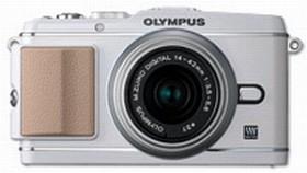 Olympus PEN E-P3 weiß mit Objektiv M.Zuiko digital 14-42mm II (V204031WE000)