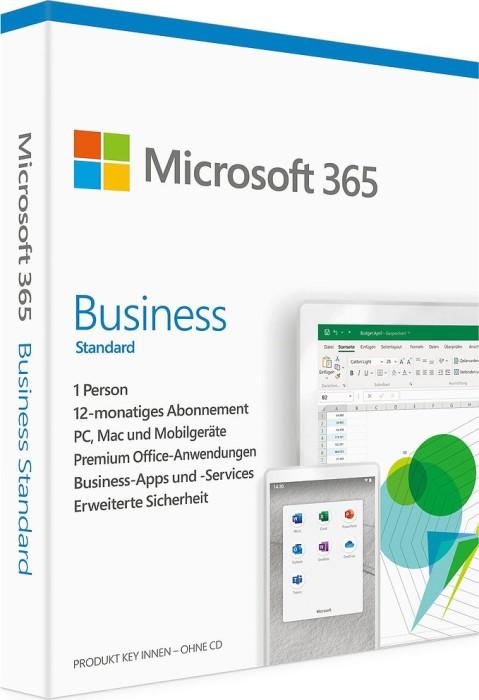 Microsoft 365 Business Standard, 1 Jahr, PKC (deutsch) (PC/MAC) (KLQ-00465)