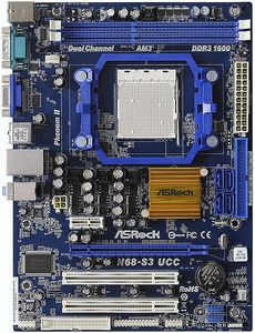 ASRock N68-S3 UCC, GeForce 7025/630a (dual PC3-8500U DDR3)