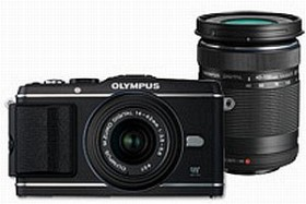 Olympus PEN E-P3 schwarz mit Objektiv M.Zuiko digital 14-42mm II und M.Zuiko digital ED 40-150mm (V204032BE000)