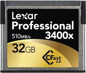 Lexar R510/W270 CFast 2.0 CompactFlash Card [CFAST2.0] Professional 3400x 32GB (LC32GCRBEU3400)