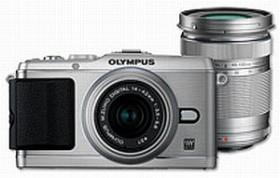 Olympus PEN E-P3 silber mit Objektiv M.Zuiko digital 14-42mm II und M.Zuiko digital ED 40-150mm (V204032SE000)
