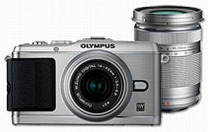 Olympus PEN E-P3 silver with lens M.Zuiko digital 14-42mm II and M.Zuiko digital ED 40-150mm (V204032SE000)