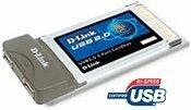 D-Link DUB-C2, 2x USB 2.0, Cardbus