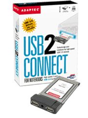 Adaptec USB2Connect for Notebooks, 2x USB2.0, Cardbus, Kit (AUA-1420/1950000EU)
