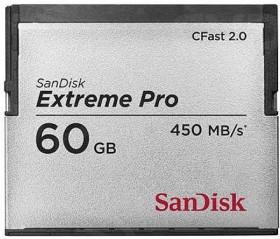 SanDisk Extreme PRO R450/W225 CFast 2.0 CompactFlash Card 60GB (SDCFSP-060G-X46)