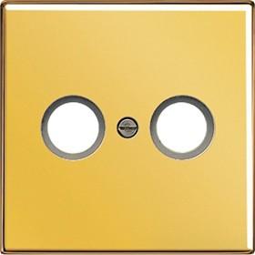 Jung GO 2990 TV Abdeckung f. 2-Loch SAT-TV-Dose goldfarben