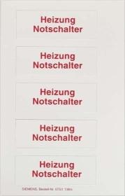 Siemens DELTA i-system pictogram sheet labeling field inlay (5TG1138)