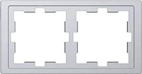 Merten System Design D-Life Rahmen, 2fach, edelstahl (MEG4020-6536)