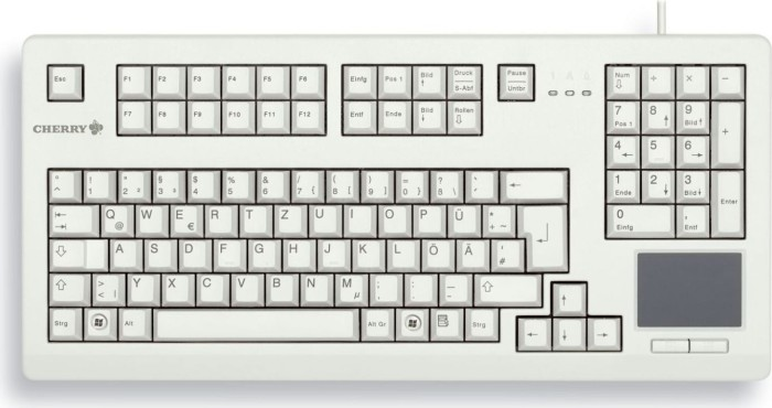 Cherry TouchBoard light grey, USB, UK (G80-11900LUMGB-0)