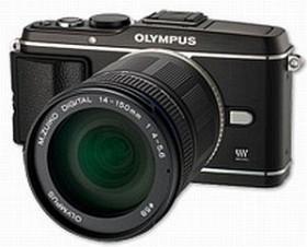 Olympus PEN E-P3 schwarz mit Objektiv M.Zuiko digital ED 14-150mm (V204034BE000)