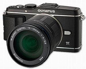 Olympus PEN E-P3 (EVIL) black with lens M.Zuiko digital ED 14-150mm (V204034BE000)