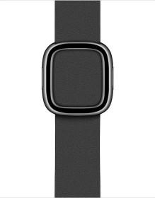 Apple modernes Lederarmband Large für Apple Watch 40mm schwarz (MWRH2ZM/A)