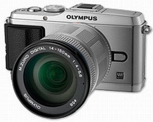 Olympus PEN E-P3 silver with lens M.Zuiko digital ED 14-150mm (V204034SE000)