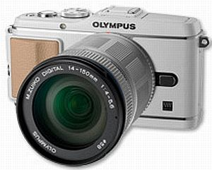 Olympus PEN E-P3 (EVIL) white with lens M.Zuiko digital ED 14-150mm (V204034WE000)