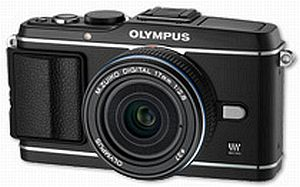 Olympus PEN E-P3 black with lens M.Zuiko digital 17mm 2.8 Pancake (V204033BE000)