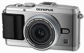 Olympus PEN E-P3 silber mit Objektiv M.Zuiko digital 17mm 2.8 Pancake (V204033SE000)