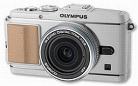 Olympus PEN E-P3 weiß mit Objektiv M.Zuiko digital 17mm 2.8 Pancake (V204033WE000)
