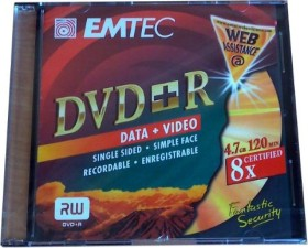 Emtec DVD-R 4.7GB 8x, 1er-Pack (EKOVPR478SLISN)