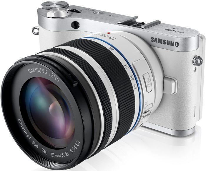 Samsung NX300 weiß mit Objektiv NX 18-55mm i-Function