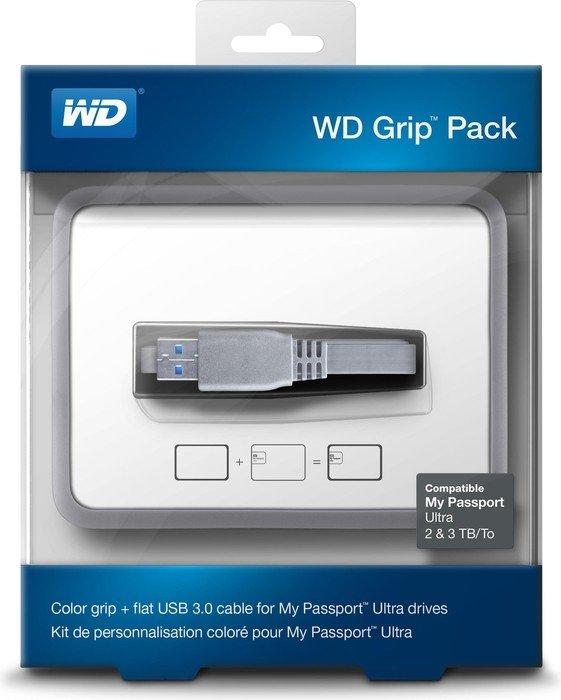Western Digital WD Grip Pack 2TB + 3TB Schutzhülle, silber/grau (WDBFMT0000NSL)