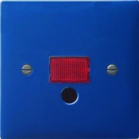 Gira Abdeckung mit großem Kontrollfenster, blau (0638 46)