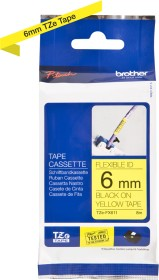 Brother TZe-FX611 label-making tape 6mm, black/yellow (TZEFX611)