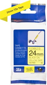 Brother TZe-FX651 label-making tape 24mm, black/yellow (TZEFX651)