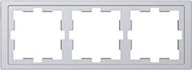 Merten System Design D-Life Rahmen, 3fach, edelstahl (MEG4030-6536)