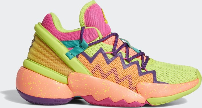 adidas D.O.N. Issue #2 team shock pink/semi solar slime/cloud white (Junior) (FZ1425)