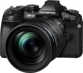 Olympus OM-D E-M1 Mark II schwarz mit Objektiv M.Zuiko digital ED 12-40mm und 40-150mm (V207061BE010)