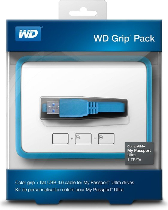 Western Digital WD Grip Pack 2TB + 3TB Schutzhülle, blau (WDBFMT0000NBL)