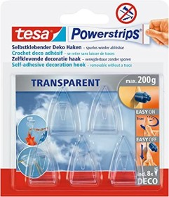 tesa Powerstrips Deco beater transparent, 5 pieces (58900)