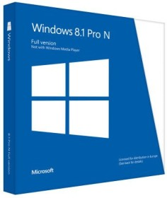 Microsoft Windows 8.1 Pro N 32/64Bit, DSP/SB (englisch) (PC) (FWC-02104)