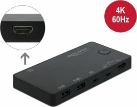 DeLOCK 2-way HDMI/USB-C KVM switch (11477)