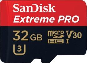 SanDisk Extreme PRO R95/W90 microSDHC 32GB Kit, UHS-I U3, Class 10 (SDSQXXG-032G-GN6MA)