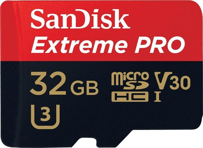 SanDisk Extreme PRO microSDHC 32GB kit, 95MB/s, UHS-I U3/Class 10 (SDSQXXG-032G-GN6MA)