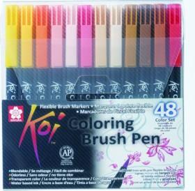 Sakura koi fish Coloring Brush Pen, brush pen, colour set, 48er set (XBR-48A)