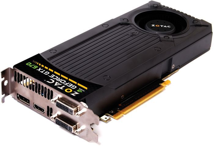 Zotac GeForce GTX 670, 2GB GDDR5, 2x DVI, HDMI, DisplayPort (ZT-60301-10P)