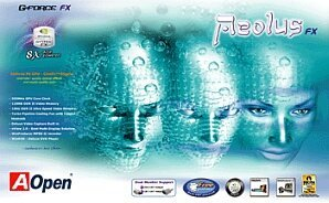 AOpen Aeolus FX5800, GeForceFX 5800, 128MB DDR2, DVI, ViVo, AGP (91.05210.300)