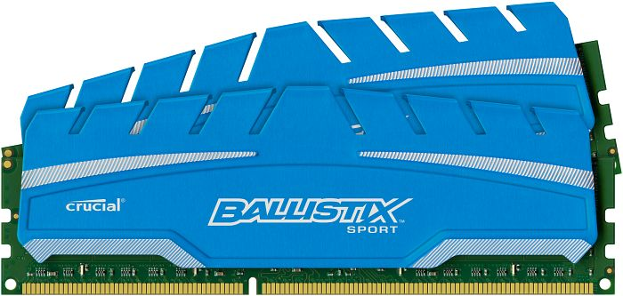 Crucial Ballistix Sport XT DIMM Kit 8GB, DDR3-1600, CL9-9-9-24 (BLS2C4G3D169DS3CEU/BLS2C4G3D169DS3J)