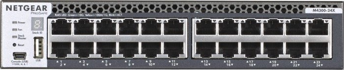 Netgear ProSAFE M4300 Desktop 10G Managed Switch, 20x RJ-45, 4x RJ-45/SFP+ (M4300-24X/XSM4324CS-100)