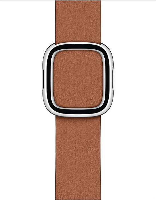 Apple modernes Lederarmband Medium für Apple Watch 40mm sattelbraun (MWRD2ZM/A)